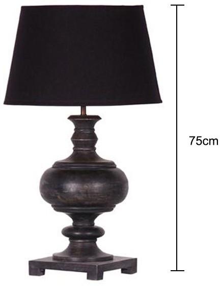 black turned table lamp distressed base table and bedside lamps. Black Bedroom Furniture Sets. Home Design Ideas