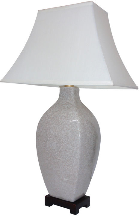 Square Sided Vase Table Lamp