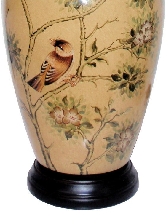 Oriental table lamp with birds and blossom table and bedside lamps oriental table lamp with birds and blossom image 3 mozeypictures