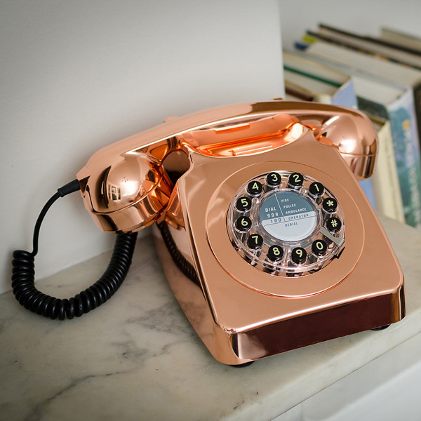 746 Phone Copper By Wild Amp Wolf Telephones