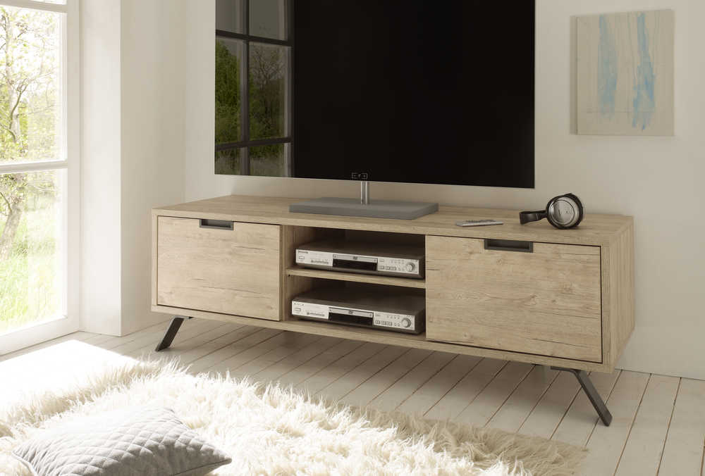 Palma Tv Unit Sherwood Oak Finish Tv Media Units