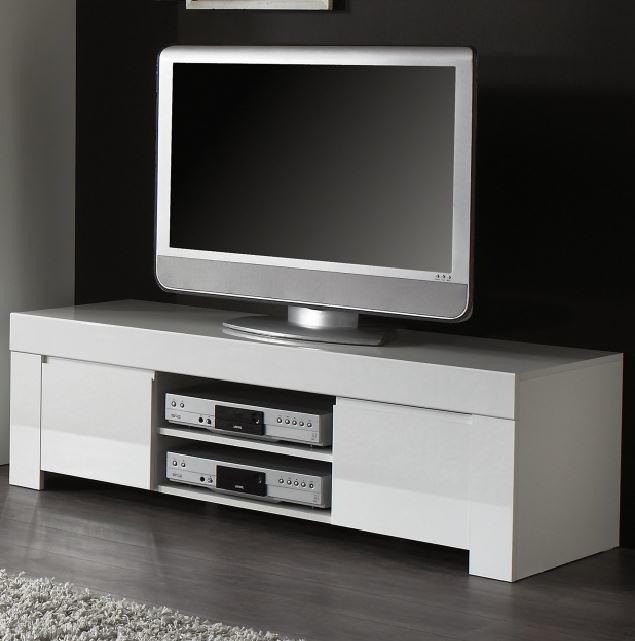 Rimini Collection Small TV Unit - White Gloss  2f566871090a