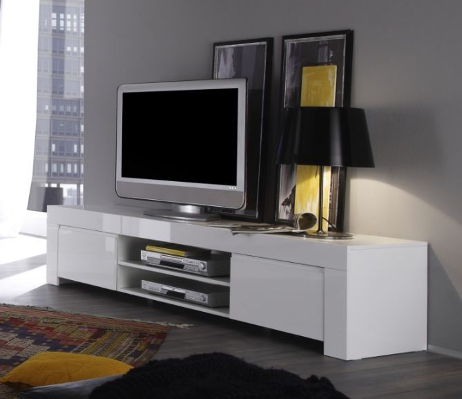 Rimini Collection Large TV Unit Gloss White TV amp media  : tv media units 2879069 from furnish.co.uk size 669 x 577 png 219kB