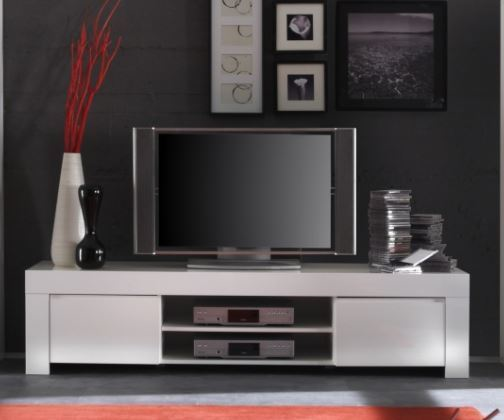 Rimini Collection Large Tv Unit Gloss White Tv Amp Media