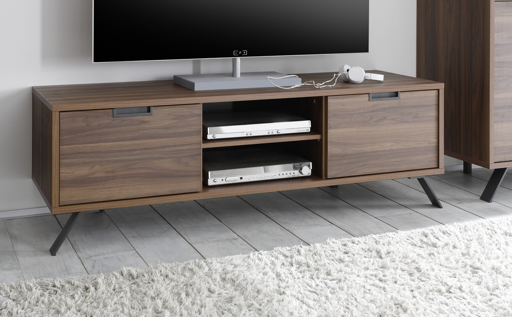 palma tv unit walnut tv media units. Black Bedroom Furniture Sets. Home Design Ideas