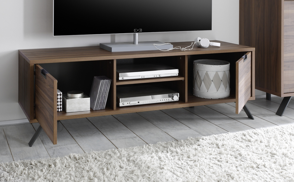 Superb Tv And Media Units Part - 4: Palma TV Unit - Walnut Image 2