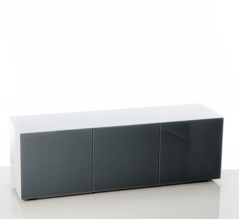 High Gloss White And Grey Tv Cabinet 150cm With Wireless