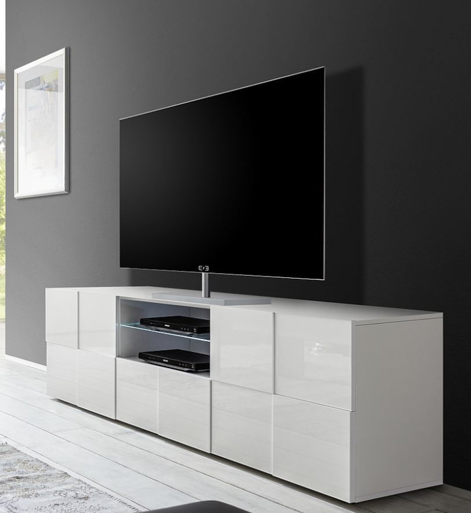 Treviso Large Tv Unit Gloss White Tv Amp Media Units