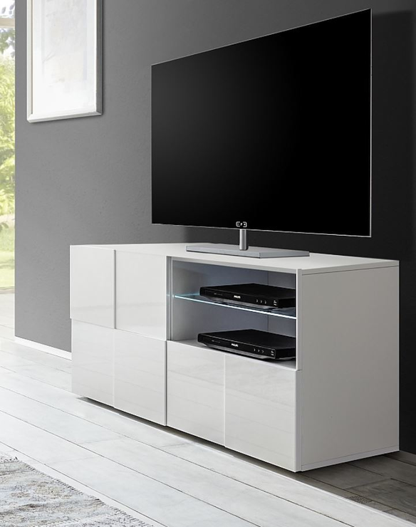 Treviso Small Tv Unit Gloss White Tv Amp Media Units