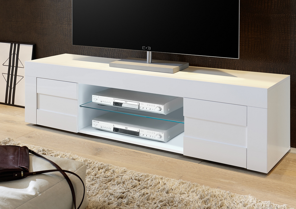 Napoli Large Tv Stand Gloss White Tv Media Units
