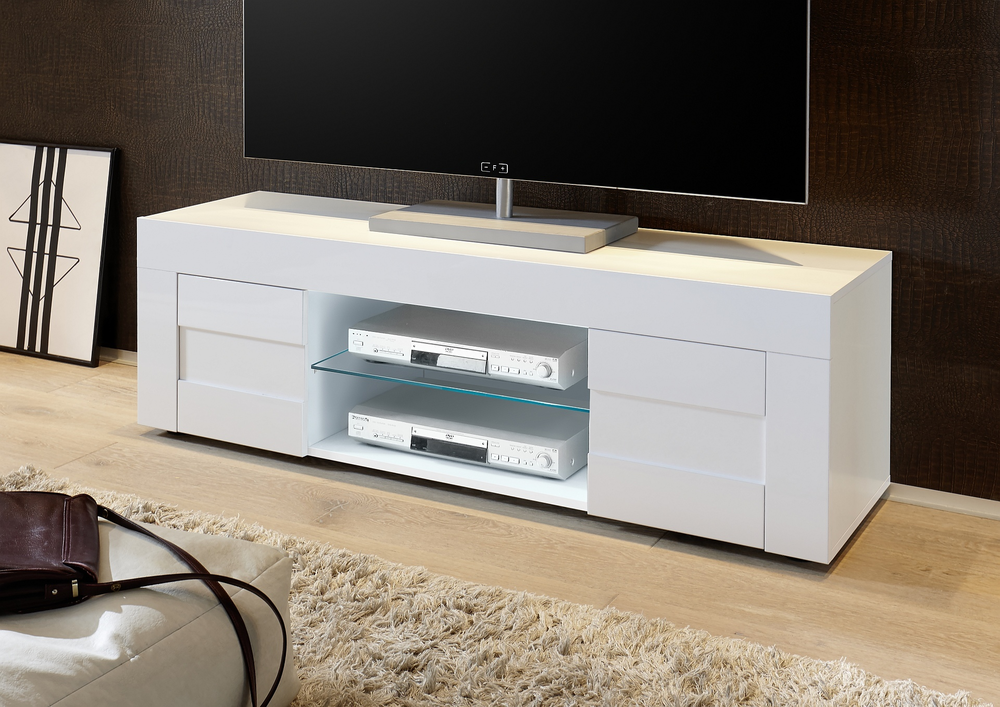 Napoli Small TV Unit - Gloss White  3c50e0e51236