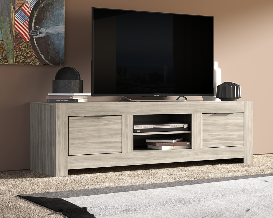 Forli Large Tv Cabinet Caracalla Oak Finish Tv Media Units