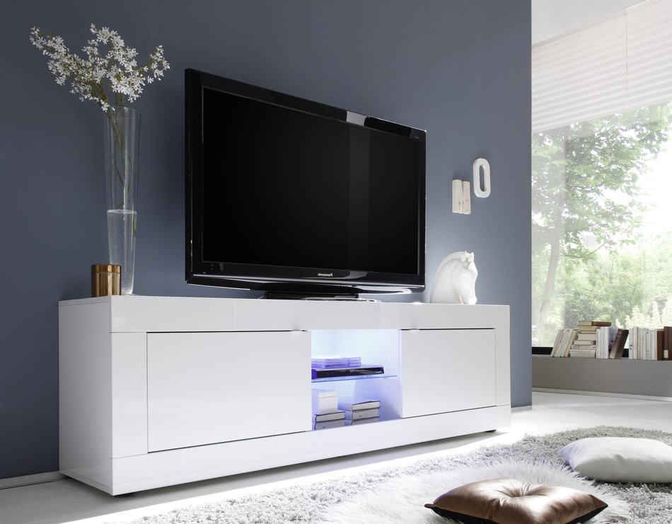 urbino collection big tv unit including led spot white. Black Bedroom Furniture Sets. Home Design Ideas