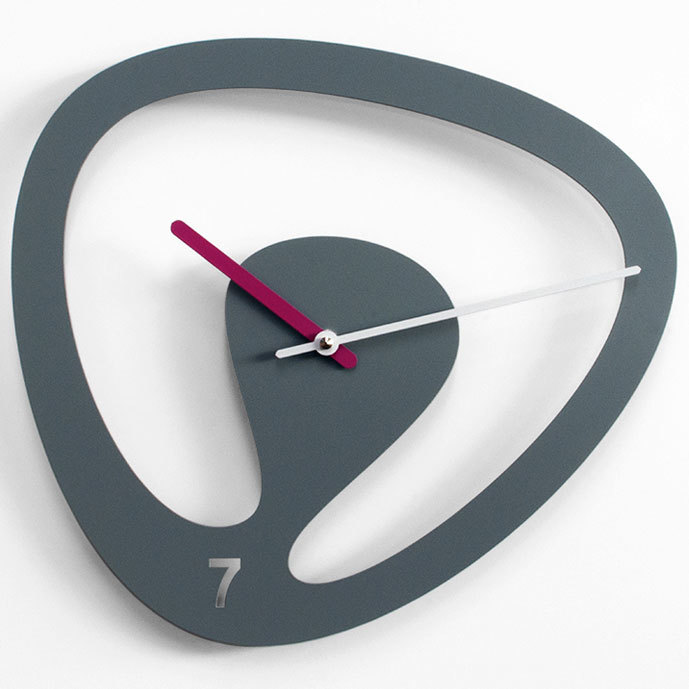 progetti seven wall clock grey wall clocks. Black Bedroom Furniture Sets. Home Design Ideas