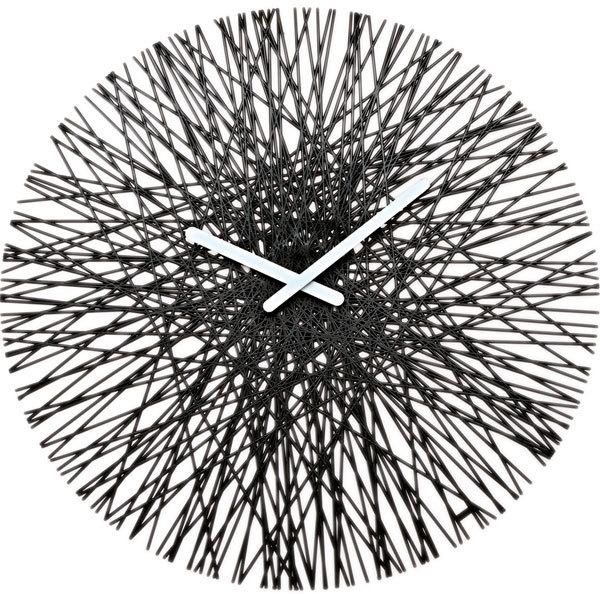 Black Wall Clocks koziol silk wall clock - black | wall clocks