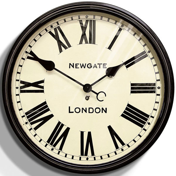 Newgate Battersby Clock Black Wall Clocks