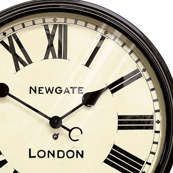 Newgate battersby clock black wall clocks for Newgate battersby wall clock