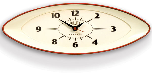 newgate bullitt wall clock red