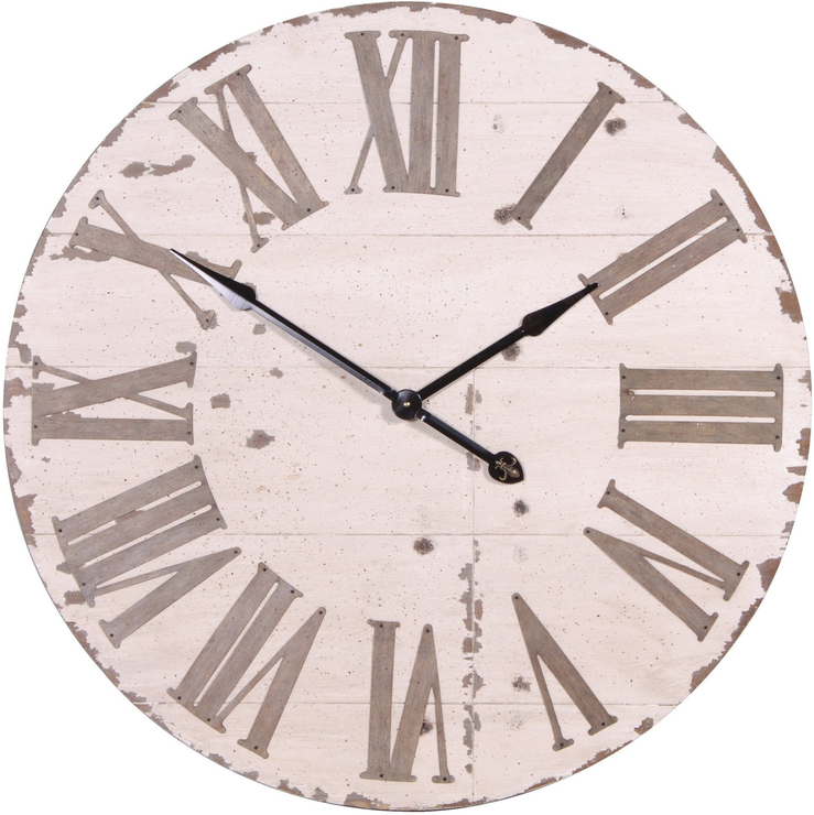 Large Distressed Wall Clock Wall Clocks