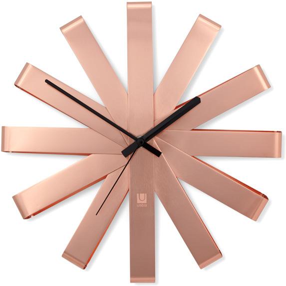 Umbra Ribbon Wall Clock Copper Wall Clocks