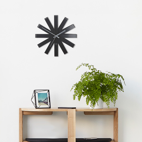 Umbra Ribbon Wall Clock   Black Image 3