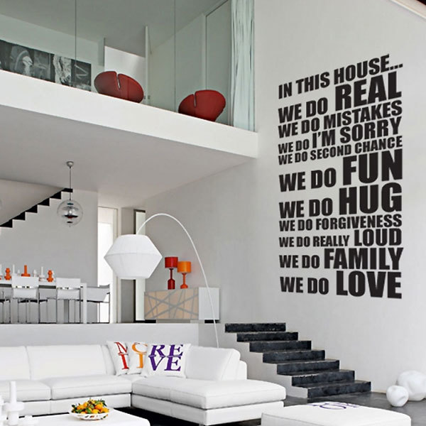 in this house xl wall sticker by the vinyl biz wall stickers