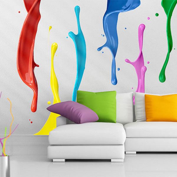 Splash Colorful Room Wall: Colour Splash Wall Sticker Set