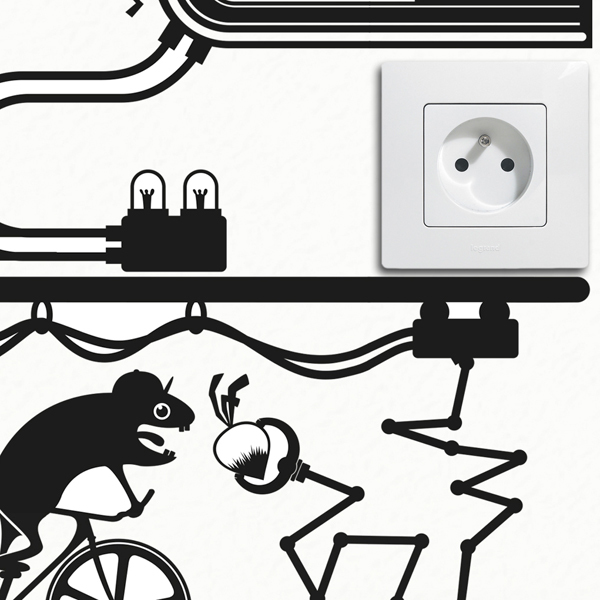 hamster fixie bike outlet wall sticker by hu2 wall stickers funny outlet or light switch wall decal sticker
