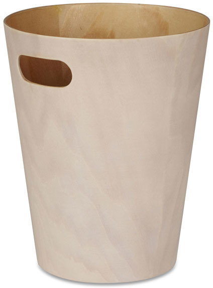 Umbra Woodrow Waste Bin White Waste Paper Bins