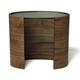 Tom Schneider Ellipse Console Table with Inset Shelves by Tom Schneider