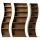Slinky shelves by Tom Schneider