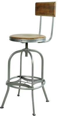 Harlem Industrial High Back Swivel Bar Stool