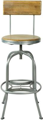 Harlem Industrial High Back Swivel Bar Stool image 2
