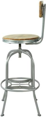 Harlem Industrial High Back Swivel Bar Stool image 3