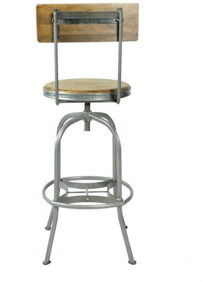 Harlem Industrial High Back Swivel Bar Stool image 5