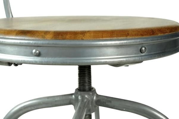 Harlem Industrial High Back Swivel Bar Stool image 7
