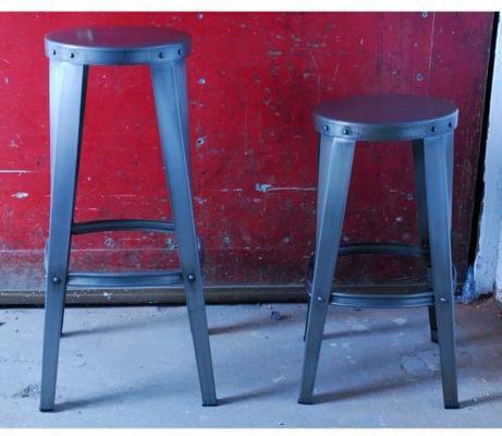 Industrial Vintage Toolshop Stool - Low