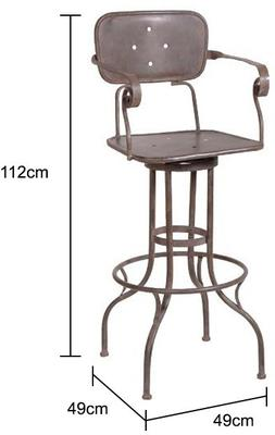 Industrial Factory Bar Stool image 2