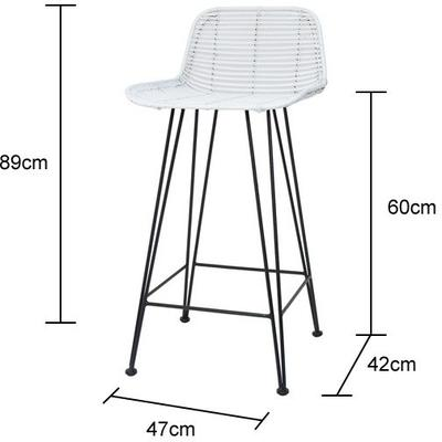 Rattan Bar Stool image 5