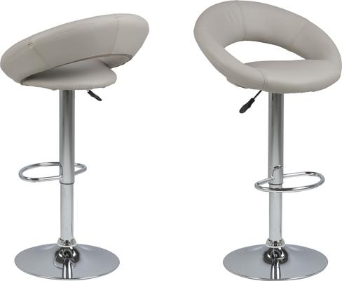 Plump swivel barstool leather adjustable black or white image 4