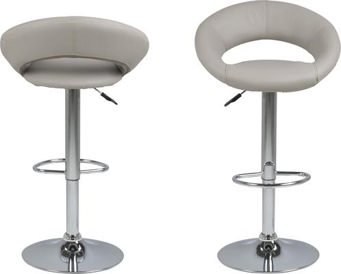 Plump swivel barstool leather adjustable black or white image 8