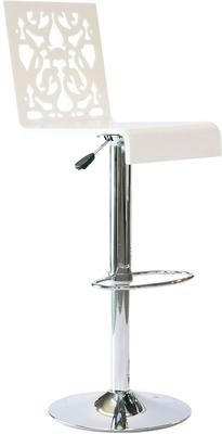 Acrylic Lace Bar Stool in Black or White