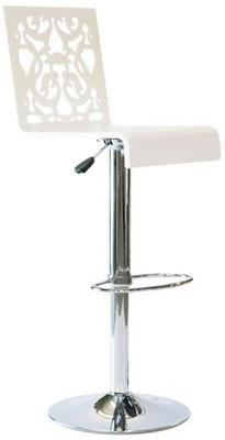 Acrylic Lace Bar Stool in Black or White image 2