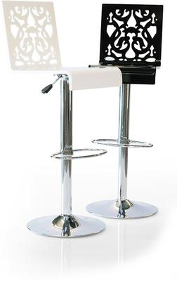 Acrylic Lace Bar Stool in Black or White image 3