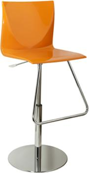 Mind Modern Acrylic Adjustable Bar Stool with Footrest