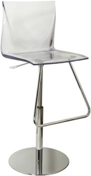 Mind Modern Acrylic Adjustable Bar Stool with Footrest image 3
