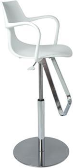 Rivet Shark Adjustable Gas Bar Stool with Footrest image 2