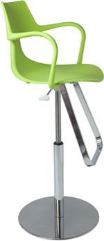 Rivet Shark Adjustable Gas Bar Stool with Footrest image 3