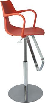 Rivet Shark Adjustable Gas Bar Stool with Footrest image 5
