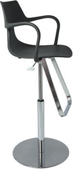 Rivet Shark Adjustable Gas Bar Stool with Footrest image 6